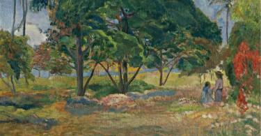 Visuel dossier Komodo 21_Exotisme_Gauguin_Paysage aux trois arbres